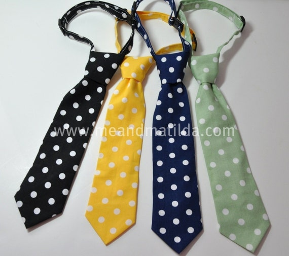 Necktie Me and Matilda Everyday Necktie Medium Dots