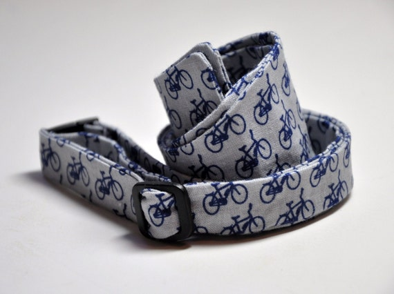 Men's Tie Navy Blue and Grey Bicycles Freestyle Men's Bowtie