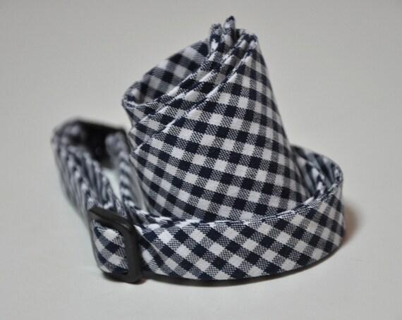 Navy Blue Gingham Men's Bowtie, Self Tie Bow Tie, Wedding, Groomsmen, Men's Tie, Navy GIngham