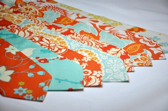 Orange and Blue Neckties for your Wedding Party