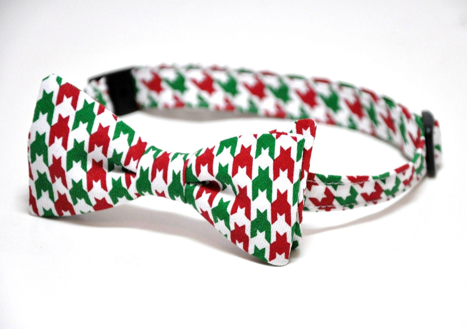 Christmas Bow Tie Red and Green Houndstooth Boys Bowtie