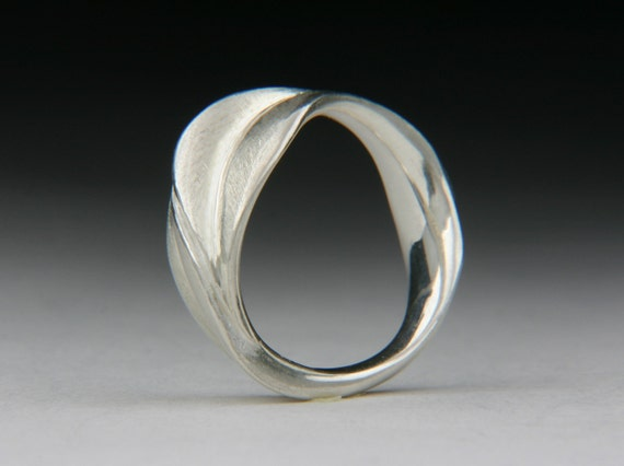 Entwined Silver Leaves Ring by Jewels Curnow