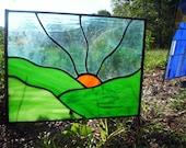 August Eve - Stained Glass Sculpture Garden Art