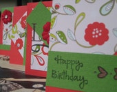 Retro Red Love Collection - CardLets - Set of 4