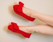 Holiday Red Slipper with Bow