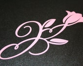 Scrapbooking scroll - swirlin tulip - Pink