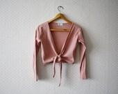 vintage 1990's etam pink tieable beach blouse