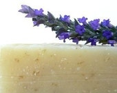 Lavender Soap with soothing oatmeal, French Lavender Olive Oil Soap, Castile Soap, Vegan Cold processed Soap, Relax