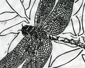 Dragonfly - Original Woodblock Print