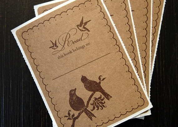 Set of 15 Bird Lovers Bookplates