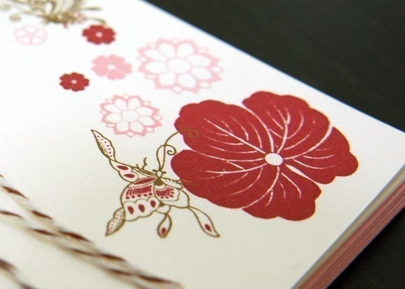 Set of 6 Butterflies Note Card Set