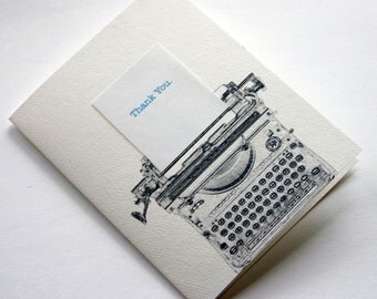 Typewriter Thanks 6 Pack