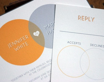 Venn Wedding Invitation (Sample Set)