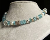 Apatite, Green Amethyst, Thai Silver, Pearl, Wet Your Apatite Bracelet
