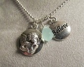 Believe Angel Charm Necklace