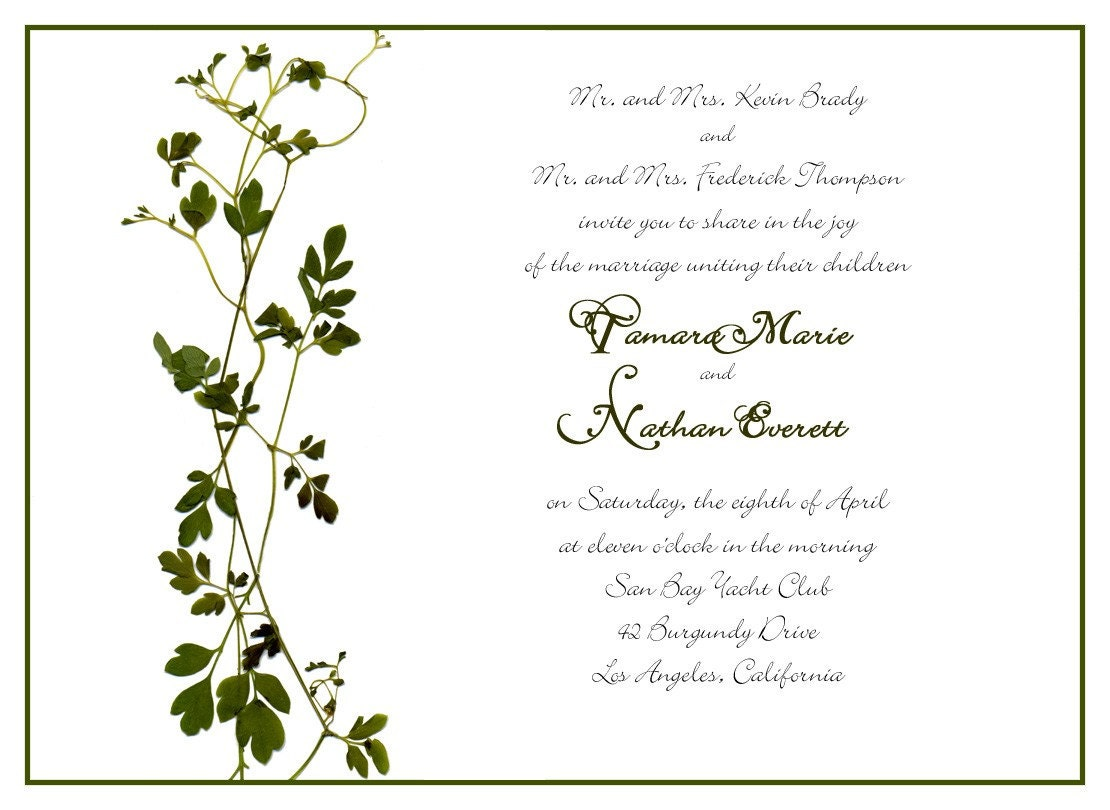 Wedding Invitation Bible Verse with perfect invitation sample