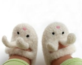 3-6 months\/Little Bunny Shoe-Shoe Felted Merino Baby Mary Janes
