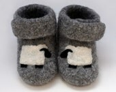 Sleepy Sheep Felted Merino Baby Ankle Booties