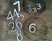 Two Dozen Vintage Metal Small And Very Small Numbers For Crafts or Art Projects