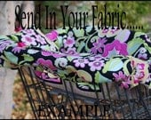 Shopping Cart Cover for boy or girls Custom by Tinder Designs Boutique - Send in your Fabric Option