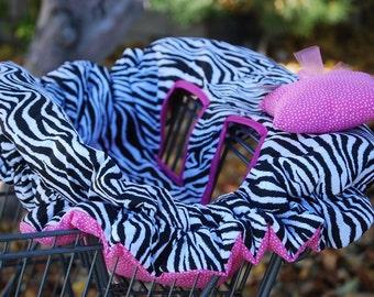 Shopping Cart Cover for Girls - Zebra Print