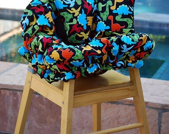 Shopping Cart Cover - Boutique shopping Cart Cover for Boy  -  Dinosaurs