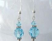 Francesca Swarovski Aquamarine Crystal Earrings