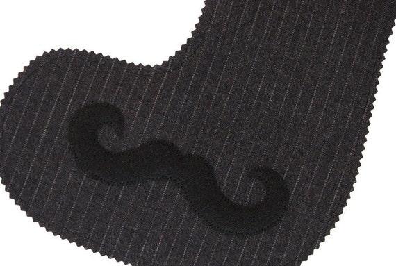 Ecofriendly Wool and Felt Moustache Stocking