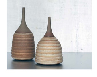 Made To Order- 1 medium Ceramic Stoneware Hive Bottle Vase by Sara Paloma.  ceramic tabletop modern mid century stoneware vases pottery