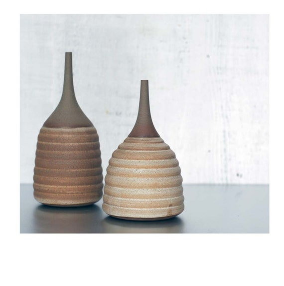Made To Order- 1 Large Ceramic Stoneware Hive Bottle Vase by Sara Paloma.  ceramic tabletop modern mid century stoneware vases pottery