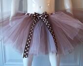 Brown Pink White Tutu ready to ship