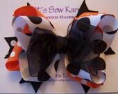 Halloween Colors Hair Bow