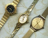 SALE MUST GO Lot of 3 Vintage Watches - Watch Parts - Steampunk Supplies for Assemblage Jewelry -TimexLot