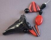 Black flower pendant
