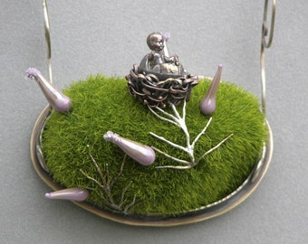 Hatched From An Egg Diorama Necklace