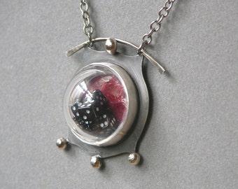 Lucky Snake Eyes Necklace