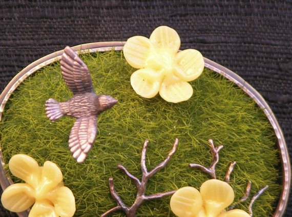 Flight Of Fancy Diorama Brooch