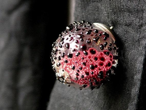 Drops Of Blood Brooch