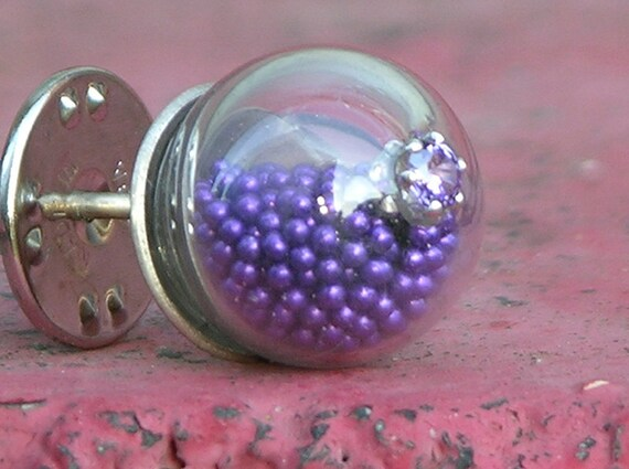 On Hold For mercedes sanchez Tiny Purple Bobble Brooch Do Not Buy