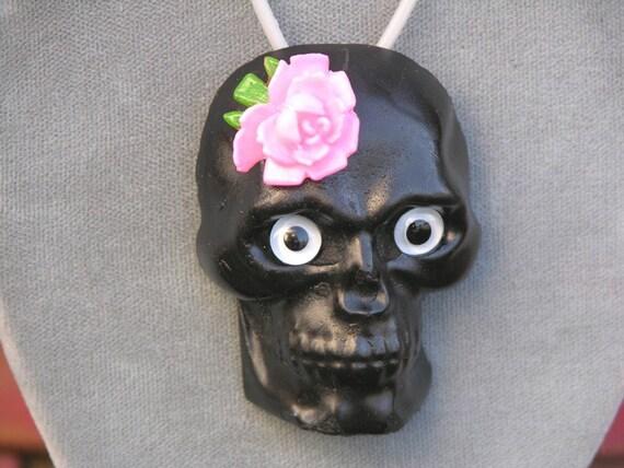 Black Calavera Pendant