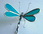 Stained Glass Dragonfly (Lt Turquoise)