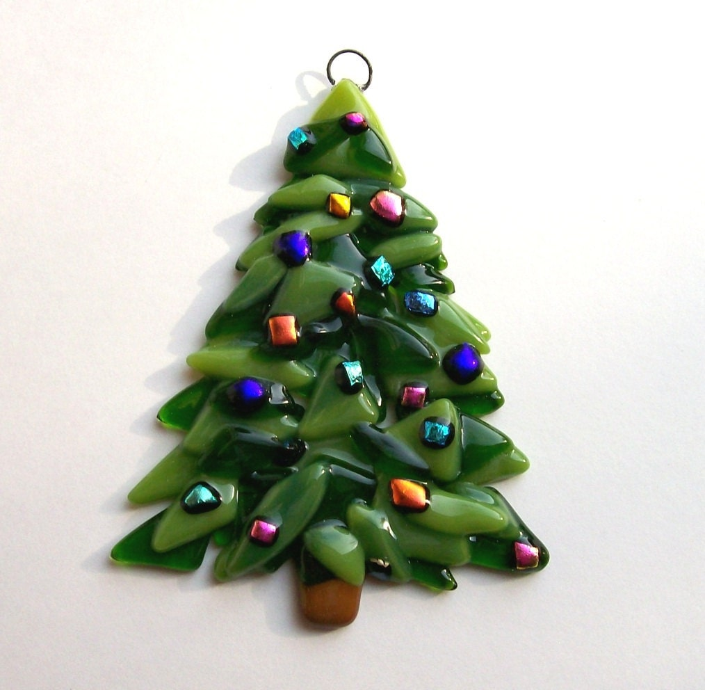 New fused glass christmas ornament class bristol tn