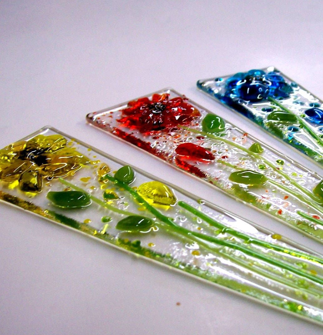 Etsy Plant Stakes Glass Fused