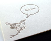 Hello there, single letterpress greeting card