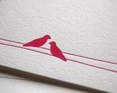 Love birds, letterpress card