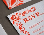 Mexican Tile - letterpress wedding invitation