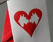 Puppy Love, letterpress card