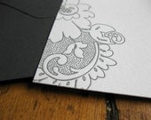 Vintage Lace, letterpress note card set