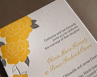 Bloom, letterpress wedding invitations