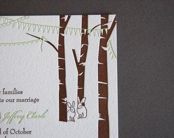 Celebration - letterpress wedding invitation